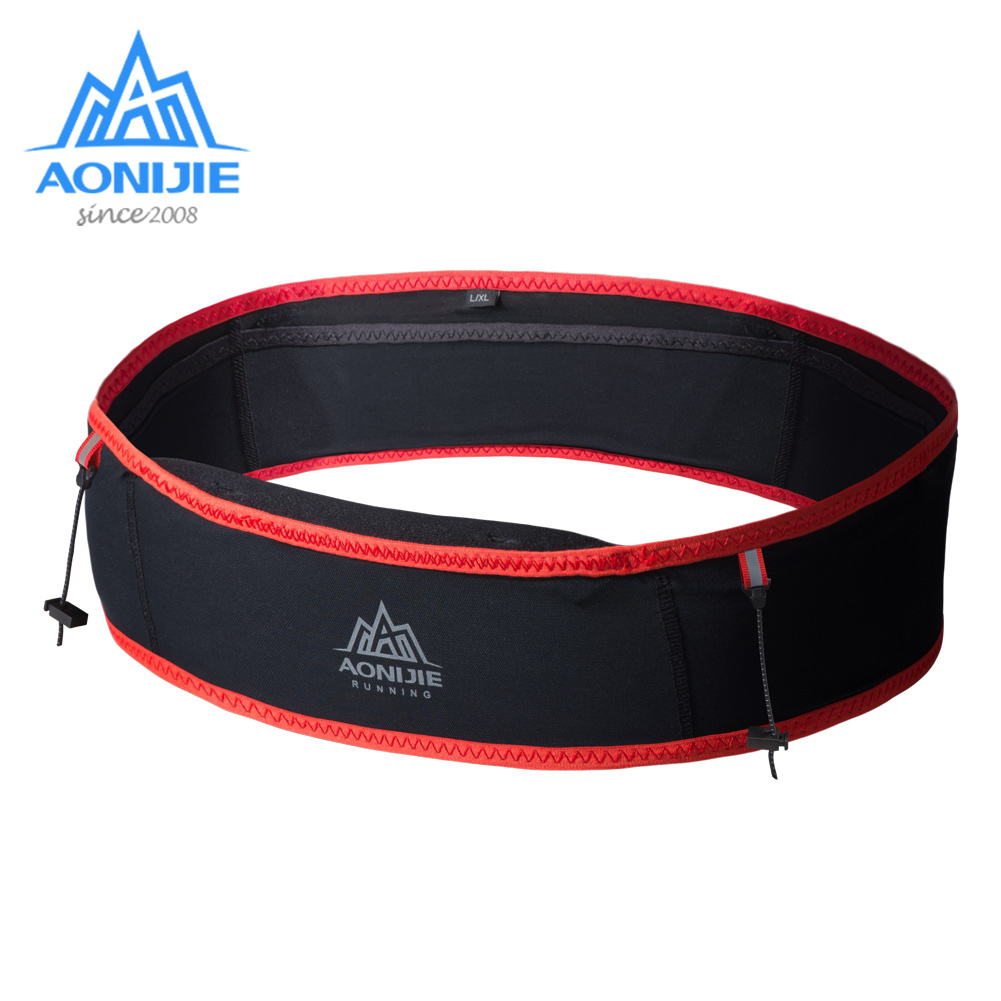AONIJIE Running Waist Bag For 6.9 In Mobile Phone Women Men Sport Waist Pack Elastic Gym Running With 1 Pcs 250ml Water Bottle