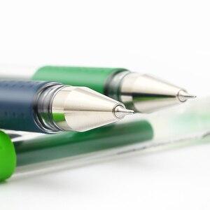 Image 2 - 12 шт./лот UNI UM 151 ручка на водной основе 0,38 мм цветная гелевая ручка Двусторонняя Шариковая ручка для письма гладкая многоцветная