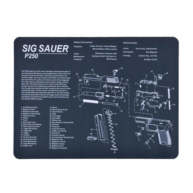 Pistolet nettoyage tapis en caoutchouc accessoire tactique punisseur Grim faucheuse Sig Sauer P250 CZ ombre 2 SA tapis de souris pour Glock