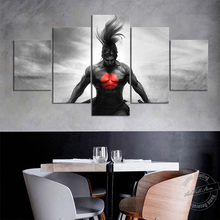 Unframed 5 Piece LOL Game Poster League of Legends Yasuo Wall Pictures Black White Samurai Artwork Painting Japanese Style