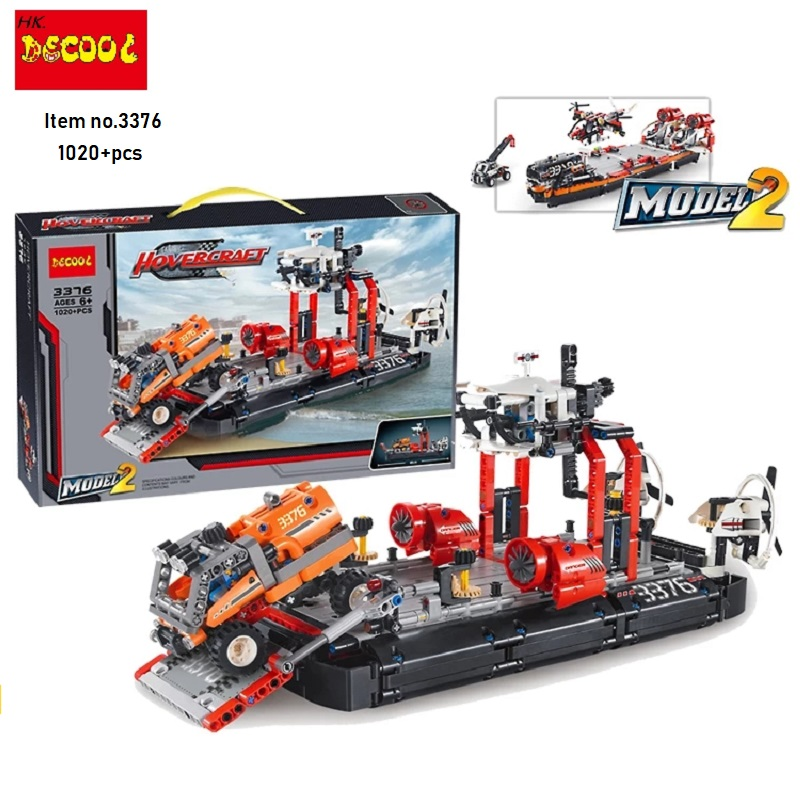 Decool city 3376 1020pcs Airport rescue hovercraft 911 Fire engine firefighter building blocks <font><b>Legoings</b></font> technic 7944 image