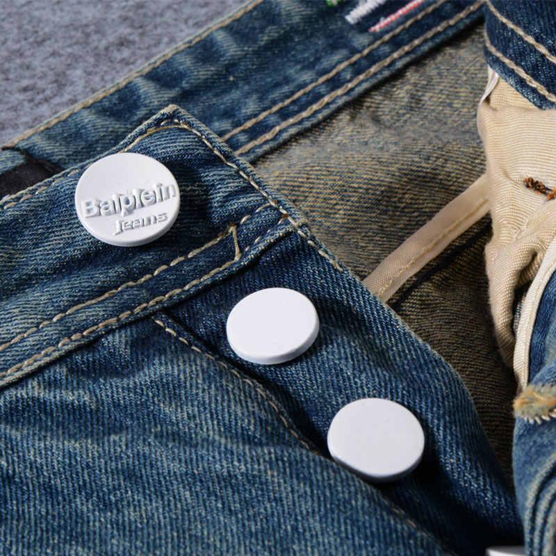 Japanischen Stil Mode Männer Jeans Retro Wash Ripped Jeans Stickerei Vintage Denim Hosen hombre Street Hip Hop Slim Jeans Männer