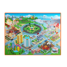 Baby Kids Toddler Crawl Play Game Picnic Carpet Beach Toys Early Educational Learning Toys Cartoon Square Mat #B
