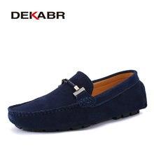 Мужские повседневные темно синие туфли DEKABR, брендовые мокасины для вождения, воздухопроницаемая мягкая обувь, размеры 38 47, лето 2019