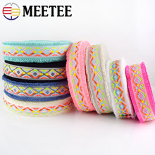 8Yard 4.5cm Tassel Fringe Jacquard Webbings DIY Sewing Lace Trims Headdress Clothes Collar Decorative Ribbons Crafts