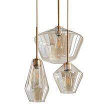 купить Modern Iron Pendant Lights Glass Pendant Lamps Lighting Bedroom Living Room Dining Room Loft Creative Hanging Lamp Fixture по цене 4462.14 рублей
