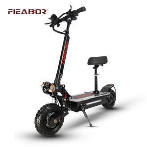 Электрический скутер для взрослых с двумя двигателями patinete eletrico e скутер 11 дюймов внедорожные шины быстрая скорость 60v 5600w