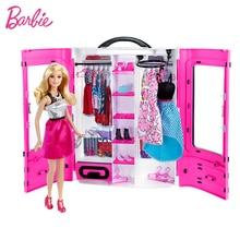 オリジナルバービー 18 インチ人形メイク洋服アクセサリー人形美しい王女の髪女の子のおもちゃ子供のための子供