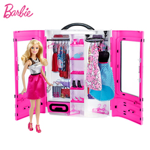 Orijinal Barbie ile 18 inç bebekler makyaj giysi aksesuarları ayakkabı bebek güzel prenses saç kızlar oyuncaklar çocuklar çocuklar için