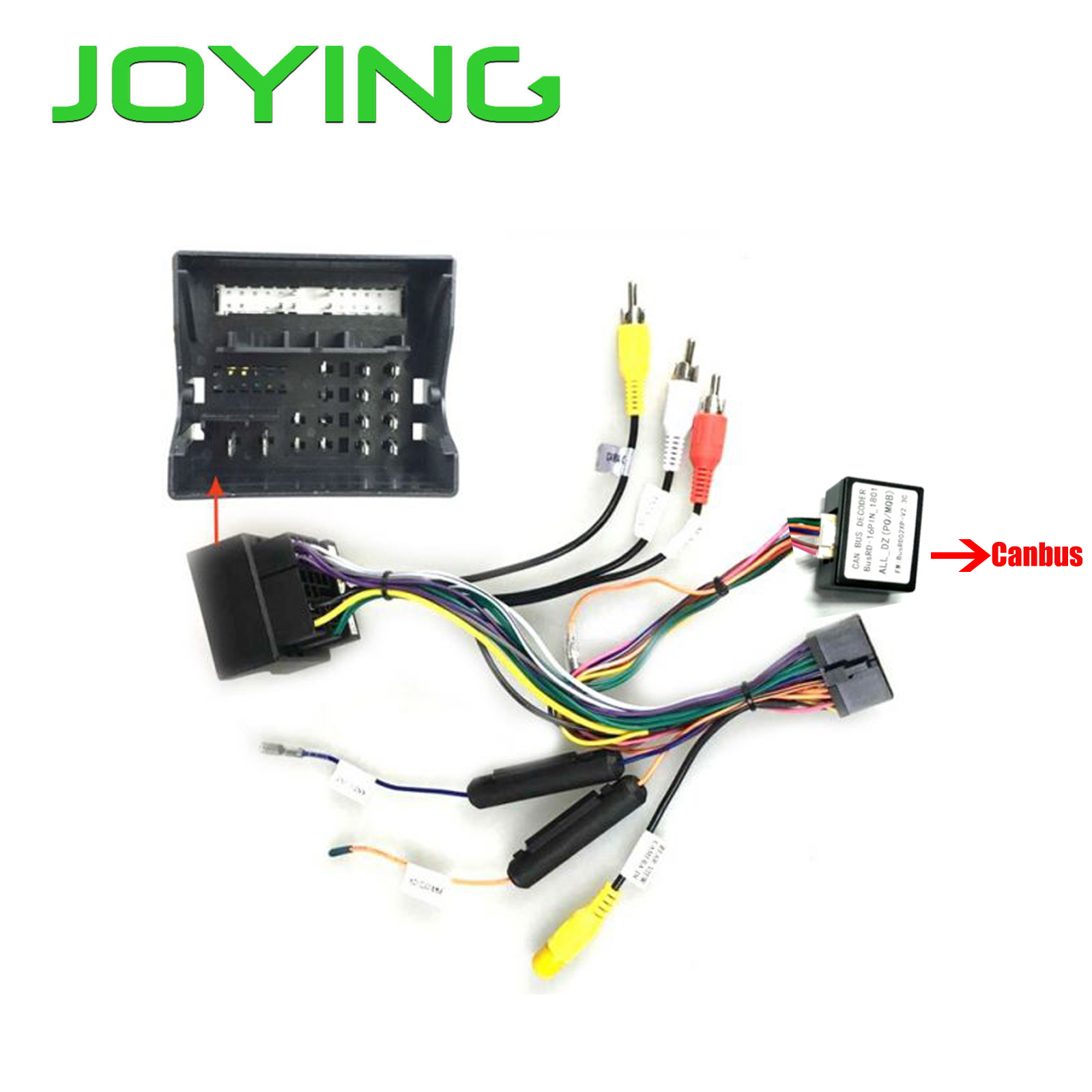 Joying New 2016-2017 VW Power Plug Harness Wiring Cable For Android Autoradio