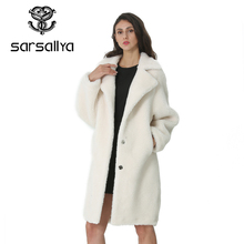 Wool Coat Jacket Cashmere Elegant Women Winter Ladies Long for Thick Warm Fur Girl Blends