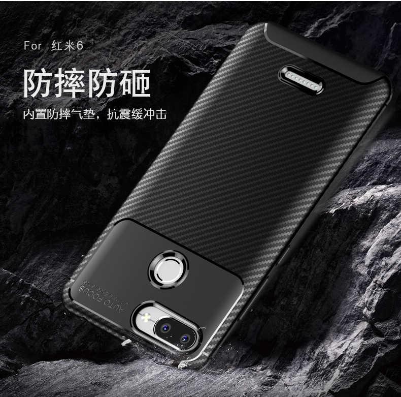De lujo a prueba de golpes a prueba de negocios de silicona suave TPU armadura cubierta protectora para Xiaomi Redmi 6 Redmi6 DE CASO caso de teléfono de casos