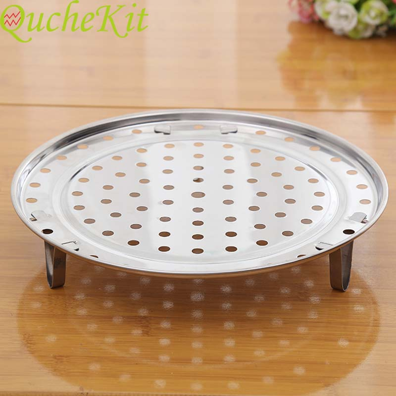 Multifunction Stainless Steel Steamer Shelf Round Cookware Steamer Rack Dumpling Bun Pot Steaming Tray Stand Kitchen Accessories