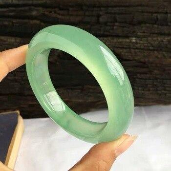 Natural Burmese Jadeite 54-64mm Ice Bracelet Elegant Princess Jewelry Send Mom to Girlfriend фото
