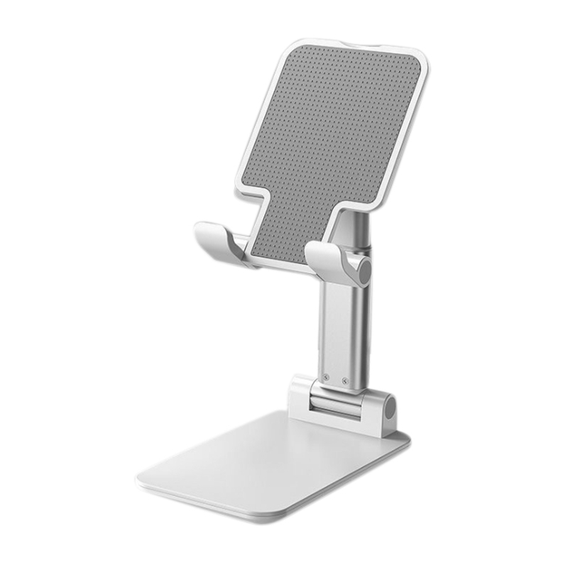 Portable Aluminum Desktop Phone Holder Folding Telescopic Multi-Angle Adjustable Stand,for Tablet Cellphone