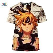 SONSPEE-Camiseta con estampado 3D DE LOS Seven Deadly Sins para hombre, camiseta de Nanatsu no Taizai para mujer, camiseta de Fitness informal, camiseta de mallodys Escanor