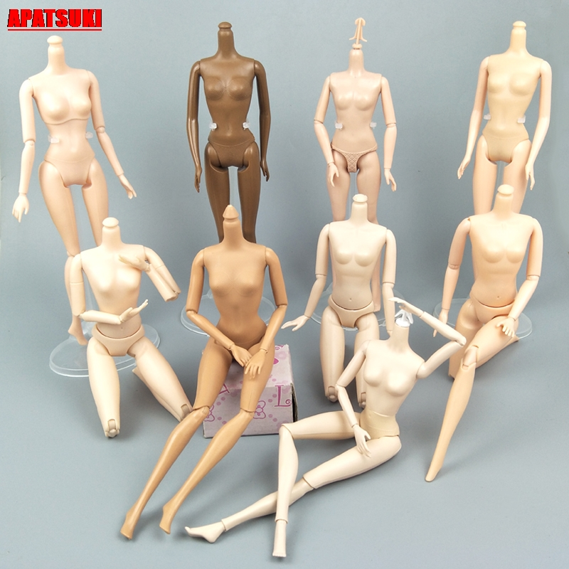 1/6 Jointed DIY Movable Nude Naked Doll Body For 1:6 BJD Dollhouse DIY Body Without Head Doll Accessories Kid Toy Children Gifts