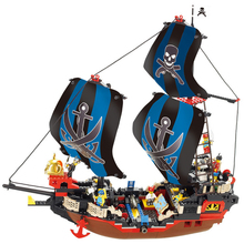 Sluban compatible Legoingly ship Pirates of the Caribbean black pearl boat Potc medieval Ship Building Blocks bricks kid toy стоимость