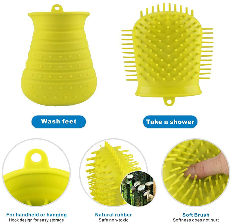 Benepaw Dog Paw Cleaner Shower Brush 2 In 1 Portable Soft Silicone Pet Foot Washer Effectively Cleaning Cup Puppy Cats Massage 14