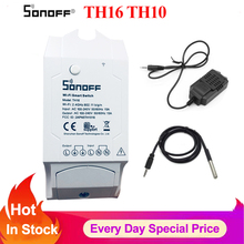 Sonoff Th16 Th10 interruptor de monitoreo de temperatura y humedad WiFi termostato Smart Switch, módulo domótico a través de Google Home