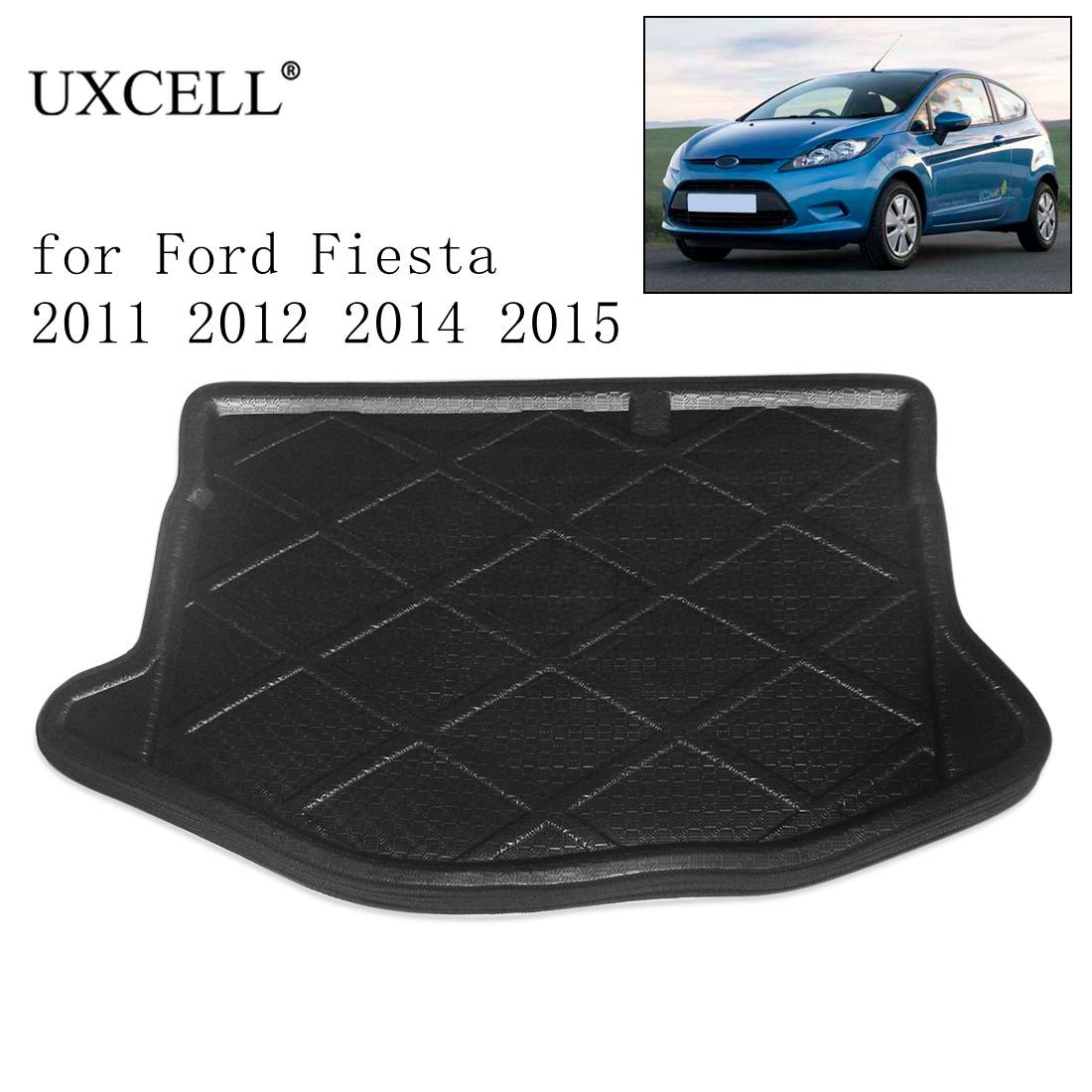 UXCELL Rear Car Trunk Tray Boot Liner Cargo Floor Mat Cover For Ford Fiesta Focus Hatchback 2005-2018 For Ford Focus Sedan 12-17