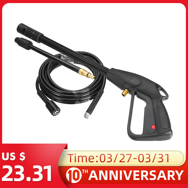 2Pcs 2300psi High Pressure Power Car Washer Spray Gun Water Washer 8m Hose For Cleaner Watering Lawn Garden