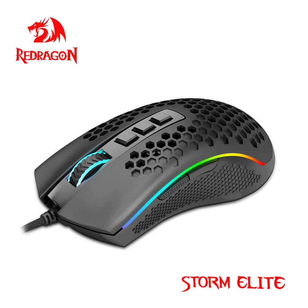 Redragon Storm Elite M988 USB wired RGB Gaming Mouse 16000 DPI programmable game mice backlight ergonomic laptop PC computer