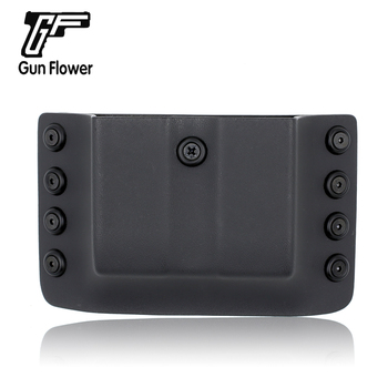цена на Gunflower Tactical Kydex Double Stack Magazine Holster 9mm 0.4S&W Pistol Mag Pouches Carrier