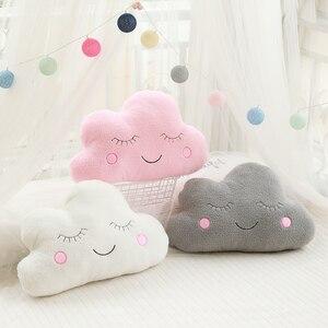 Image 3 - חדש ממולא ענן ירח כוכב טיפת גשם קטיפה כרית רכה כרית ענן ממולא בפלאש צעצועים לילדים בייבי ילדים ילדה כרית מתנה