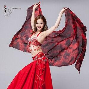 100% шелк Танец Живота Вуаль шали для женщин галстук краска шелковая вуаль костюмы шарф аксессуары для сцены танцевальная вуаль