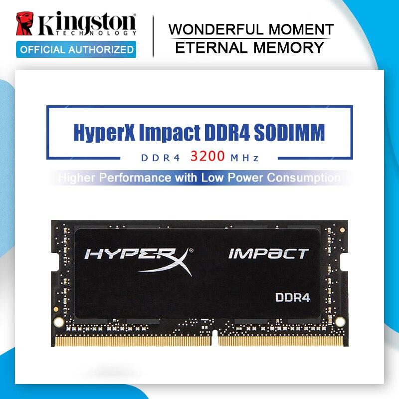 Kingston Memoria Ram ddr4 3200MHz 8gb 16gb 32g HyperX darbe SODIMM CL20 1.2V DRAM 260pin intel oyun dizüstü bellek için lapt