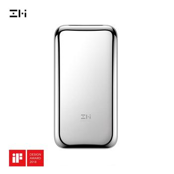 ZMI QPB60 Space Stainless Steel PD QC Fast Charging Power Bank 6000mAh QPB60 with Leather PU Cover And OTG Adapter Cable