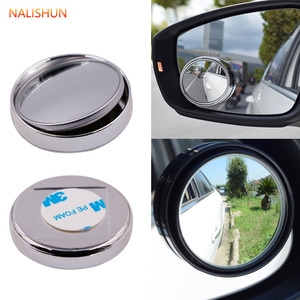 2 piece car 360-degree frameless blind spot mirror wide-angle circular convex mirror small round side blind spot rearview mirror(China)
