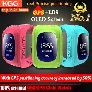 Image 1 - אנטי איבד Q50 ילדים חכם שעון OLED ילד GPS Tracker SOS צג מיצוב טלפון GPS תינוק שעון IOS אנדרואיד pk q12 s9 שעון