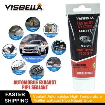 Visbella Abgasanlage Rohr Reparatur Kit Hohe Temperatur Zement Riss Sealer Endrohr Schalldämpfer Klebedichtstoff Hand Werkzeug Sets
