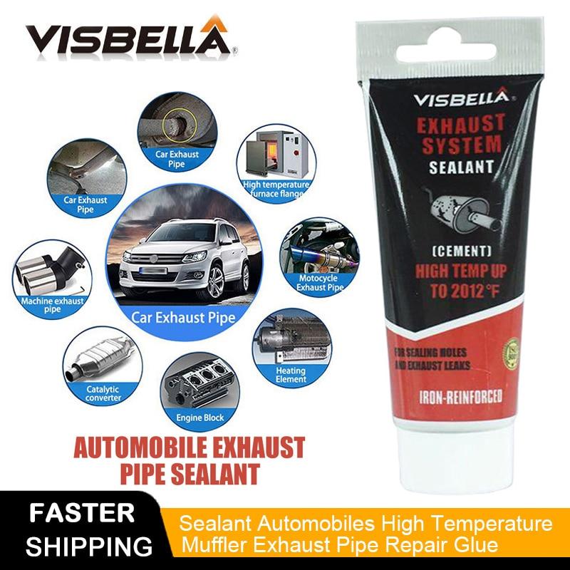 """""""Visbella"""" išmetimo sistemos vamzdžių taisymo rinkinys, turintis aukštą temperatūros cemento įtrūkimų sandariklio vamzdį, duslintuvą, klijų sandariklio rankinį įrankį"""