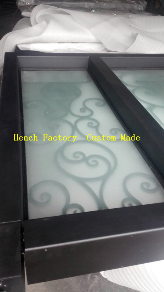 Shanghai Hench Brand China Factory 100% Custom Made Sale Australia Iron Door With Sidelights