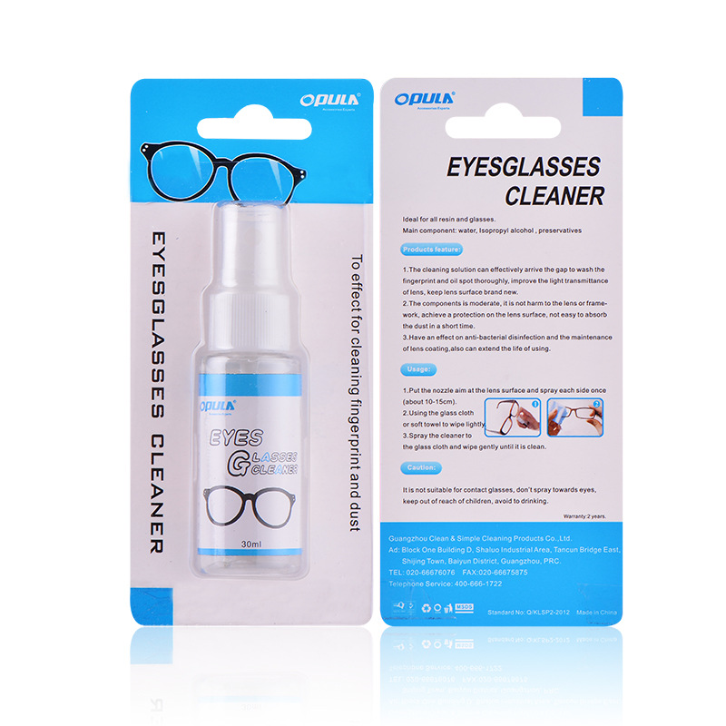 Manufacturers Wholesale Sun Glasses 3D Glasses Spray Care Agent 30 Ml Lens Cleaner
