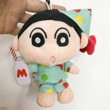 цена на 13cm 60pcs Crayon Shin-chan Kawaii Kety Cat Plush Toy Cute Keychain Pendant Bag Decor Peluche Doll Soft Cotton Stuffed Toys