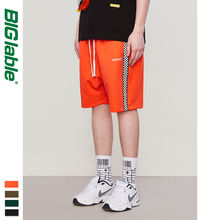BIG LABLE Mens Sportswear Shorts Side Stripe Contr