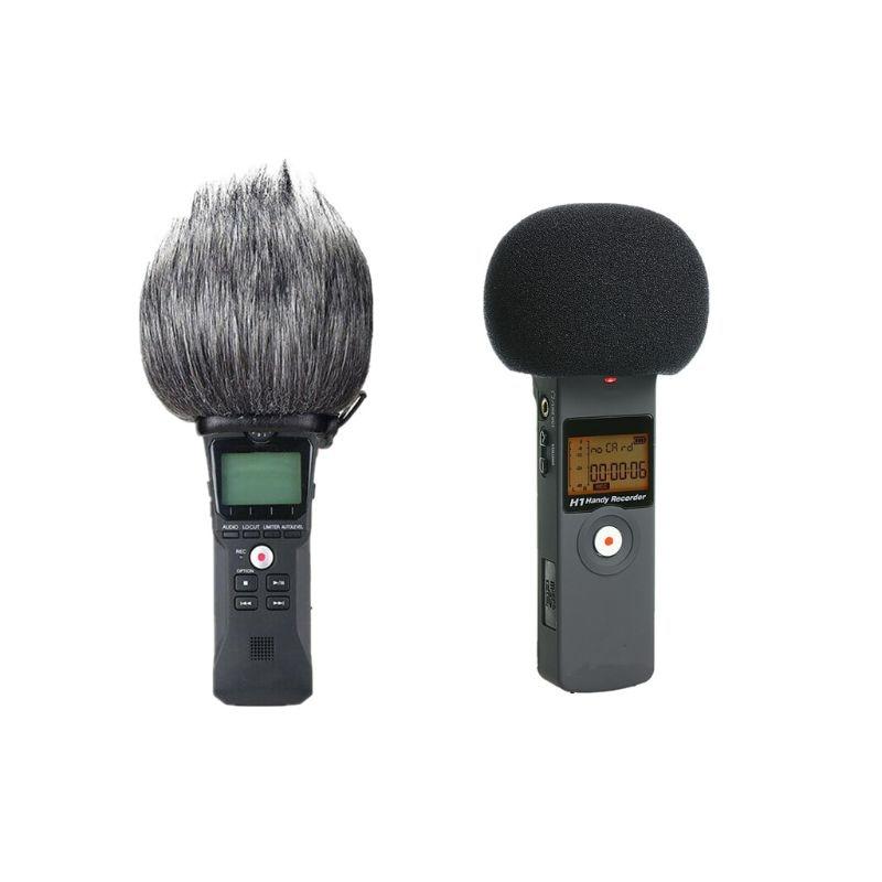 Пушистая муфта для лобового стекла крышка пена фильтрующий микрофон ветрозащитная Крышка для Zoom H1 95AF