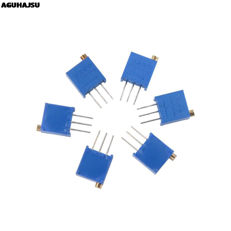 10pcs 3296W 1k 2k <font><b>5k</b></font> 10k 20k 50k 100k 200k 500k 1M 1ohm Trim <font><b>Pot</b></font> Trimmer Potentiometer Type For Arduino image
