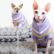 Vêtements de noël pour chats, pull chaud d'hiver pour pull tricoté en Sphinx, vêtements pour petits chiens, Chihuahua, Yorkies, et teckels
