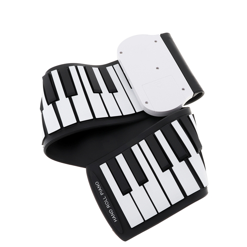 Quality 37 Keys Silicon Flexible Hand Roll Up Piano Soft Portable Electronic Keyboard Organ Music Gift For Children Student