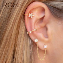 ROXI 925 Sterling Silver Snowflake Clip Earrings Without Piercing Crystal Earcuff Fashion Jewelry Women Christmas Earring Korean(China)