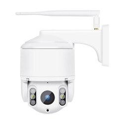 Kamera sieciowa zewnętrzna wodoodporna Pan/Tilt bezprzewodowa kamera do monitoringu Hd kamera na podczerwień Eu Plug w Minikamery od Elektronika użytkowa na