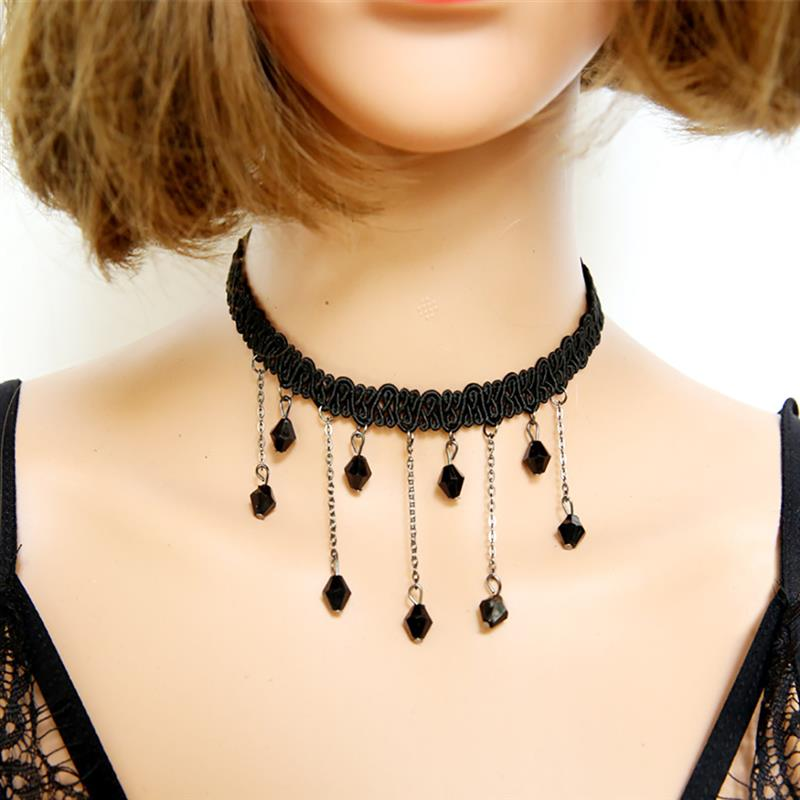 1pc Fashion Women's Ladies Necklace Creative Beaded Chain Tassel Pendant Decor Necklace Clavicle Necklace Jewelry Accessories