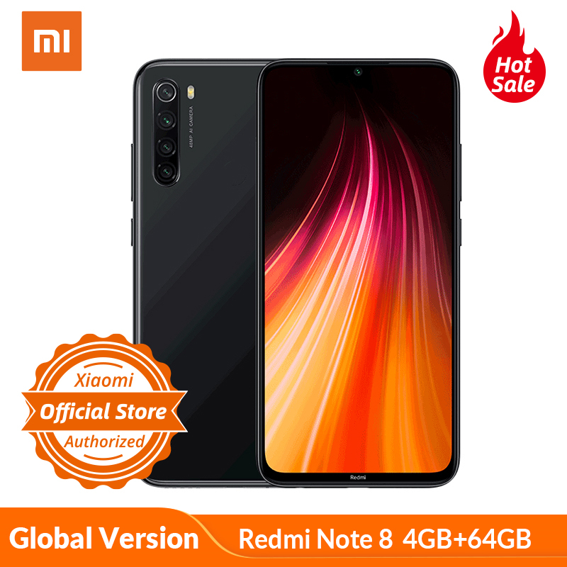 Global Version Xiaomi Redmi Note 8 4GB 64GB Smartphone 48MP Camera Snapdragon 665 Mobile Phone 4000mAh 18W Quick Charge 6.3
