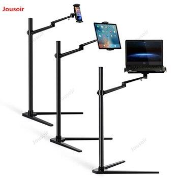 Mobile phone flat universal bracket floor type folding aluminum alloy support shelf base office clip CD50 T07