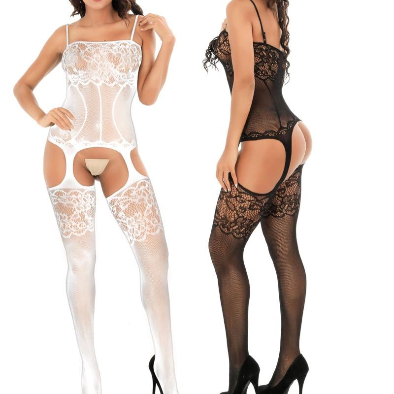 Stretchy Women Underwear Parties Honeymoon Cosplay Nylon Jumpsuits Uniform Temptation Sexy Lingerie Nightwear